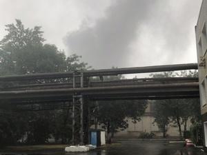 Цех завода ГАЗ горит в Нижнем Новгороде