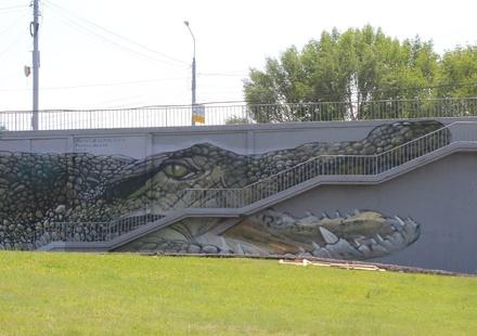 На Канавинском мосту «поселился» крокодил