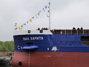 Сухогруз «Пола Харита» спустило на воду «Красное Сормово» в Нижнем Новгороде