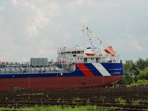 Новый танкер-химовоз спущен на воду на заводе «Красное Сормово»
