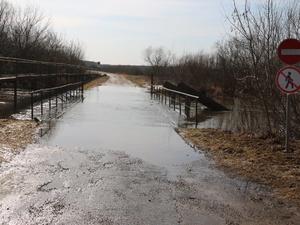 Мост через реку Керженец подтопило в Семеновском районе