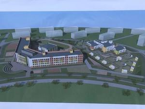 Строительство цокольного этажа школы началось в Новинках