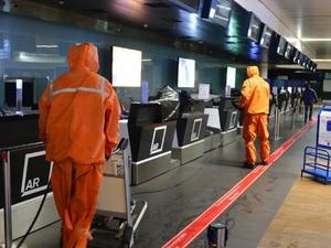 Нижегородский аэропорт продезинфицировали специальным веществом
