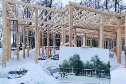 Реставрация входных групп в парке «Швейцария» завершена на 20%