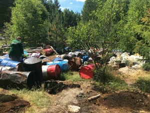 Незаконную свалку промотходов обнаружили в Володарском районе