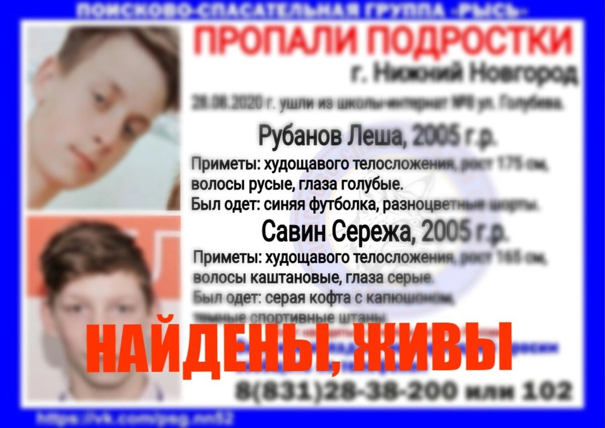 Двух пропавших месяц назад подростков в Нижнем Новгороде нашли живыми  - фото 1