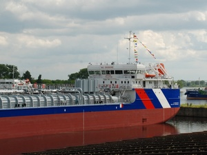 Уникальный танкер-химовоз спущен на воду в Нижнем Новгороде (ФОТО)