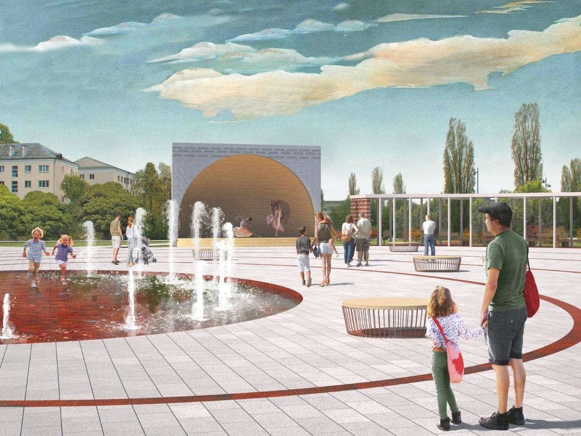 Скейт-парк и амфитеатр с фонтаном: как преобразится бульвар Заречный и площадь перед кинотеатром «Россия» - фото 1