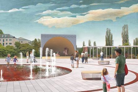 Скейт-парк и амфитеатр с фонтаном: как преобразится бульвар Заречный и площадь перед кинотеатром «Россия»