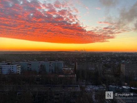 Утреннее небо поразило жителей Нижнего Новгорода