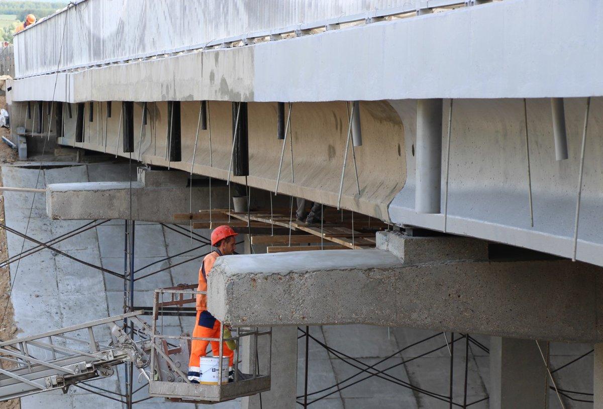 Начались ремонтные работы на правой стороне путепровода на Южном обходе Нижнего Новгорода - фото 2