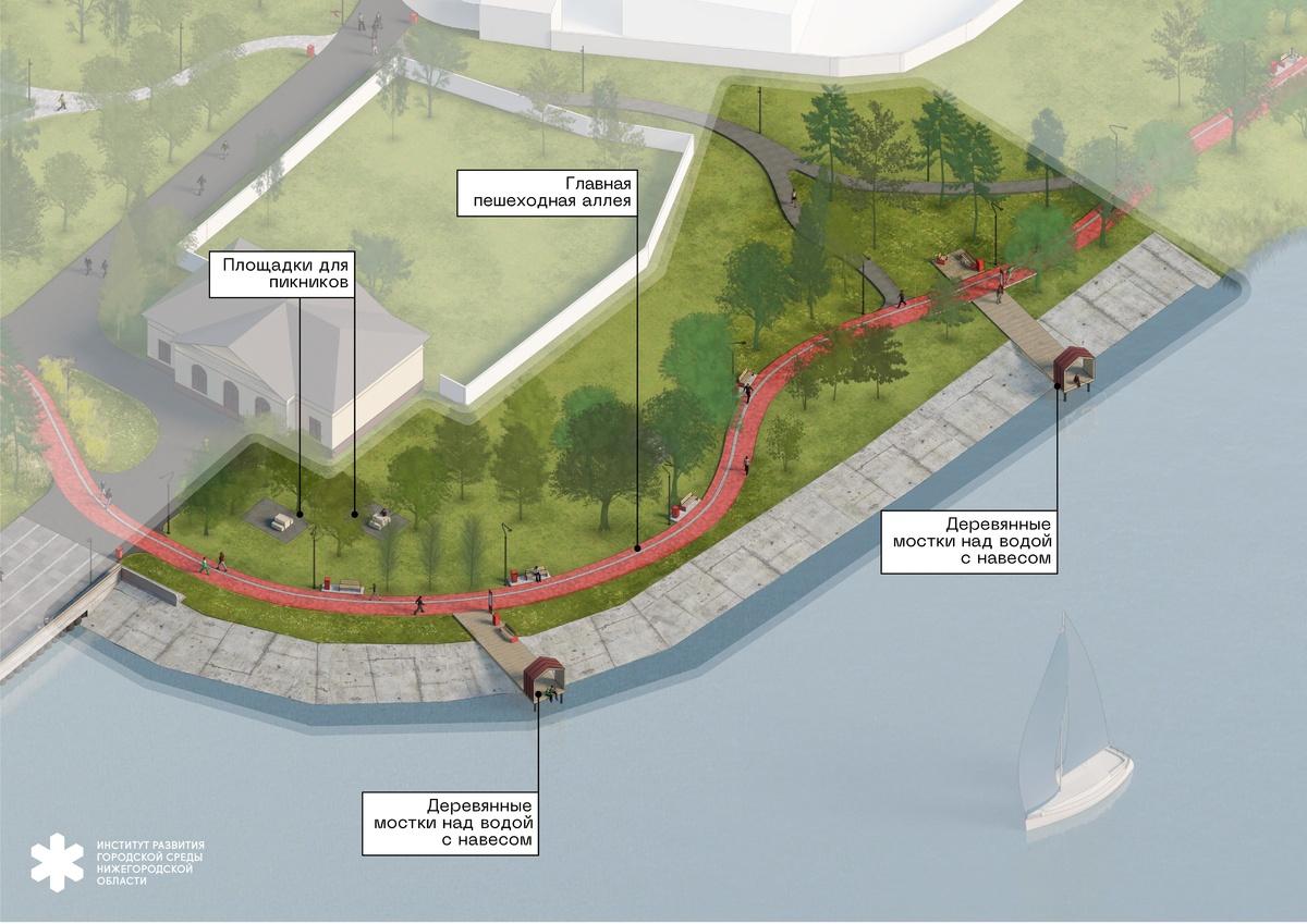 Волнорез с арт-объектом и мостки над водой: каким видится будущее пристани в Чкаловске - фото 7